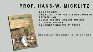 Book Launch: The Politics of Justice in European  Private Law