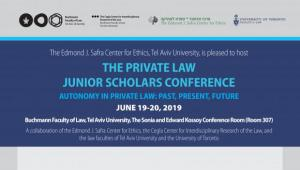 The private law Junior scholars conference Autonomy in private law: past, present, future